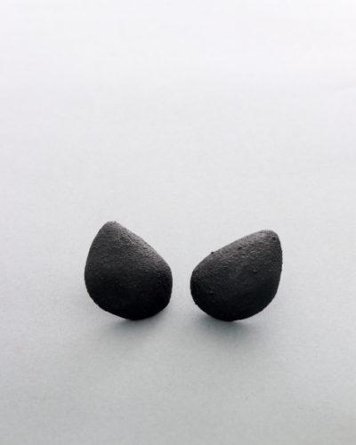 drop shaped black earrings - michelle kraemer jewellery