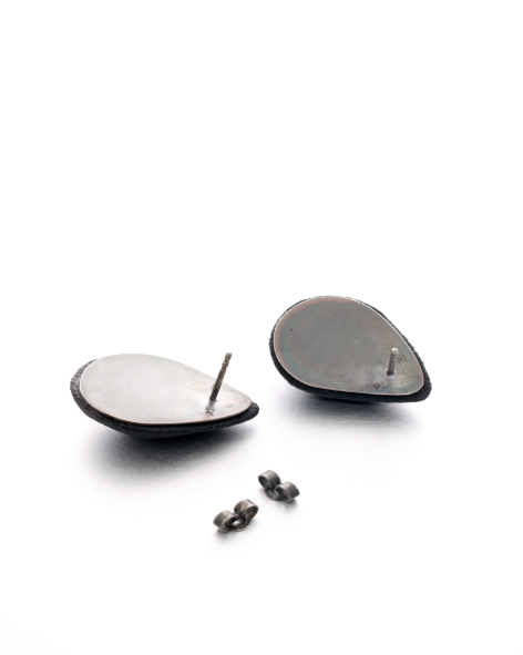 drop shaped black earrings - michelle kraemer jewellery
