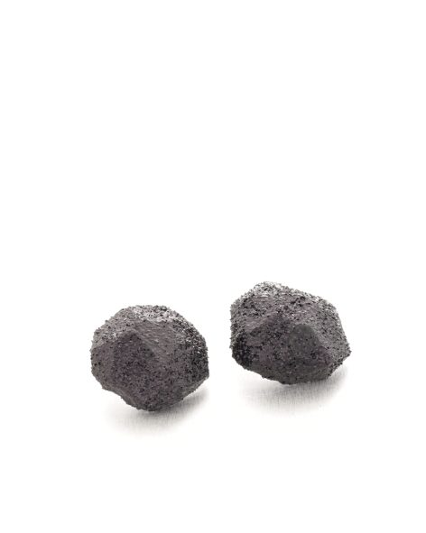 big black glitter earrings - michelle kraemer jewellery