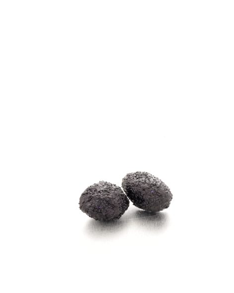 irregular black glitter earrings. michelle kraemer jewellery