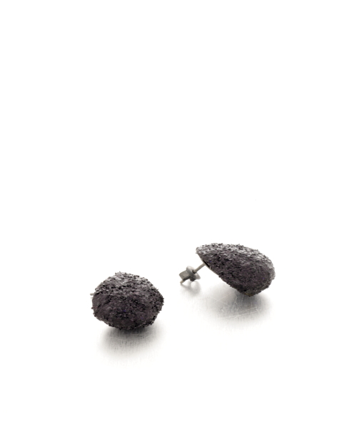 small black glitter earrings - michelle kraemer jewellery